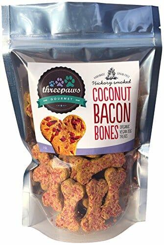 Coconut Bacon Bones, Hickory Smoked dog bones