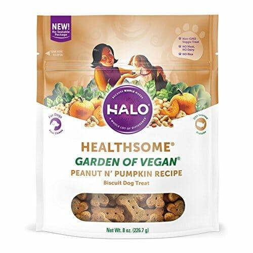 Halo Natural Crunchy Pumpkin vegan dog treats