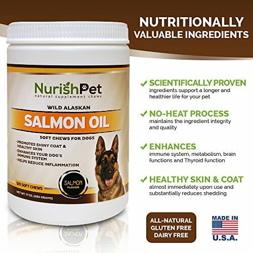NurishPet wild alaskan salmon oil chews benefits