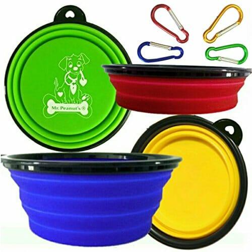 Mr. Peanut's Collapsible pet bowls