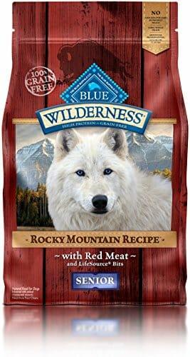 Blue Buffalo wilderness mountain protein natural dog food for senior huskies