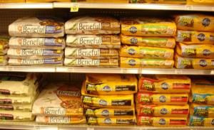 Dog foods display