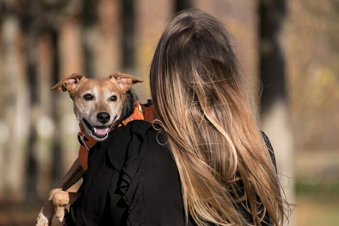 Female dog owner