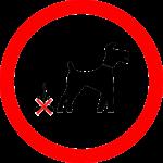 no to dog poop sign