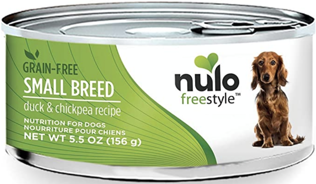 Nulo Puppy & Small Breed Grain-Free Canned Wet Dog Food Duck and Chickpeas Recipe